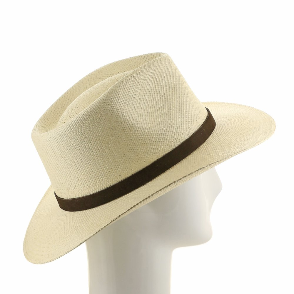 985e53a89ad HAND FINISHED Fedora PANAMA HAT STRAW Mens HAVANA at Amazon Men s Clothing  store