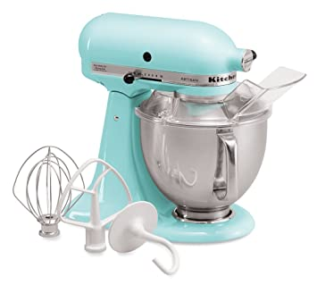 kitchenaid ksm150psic artisan series 5qt stand mixer with pouring shield ice - Artisan Kitchenaid Mixer
