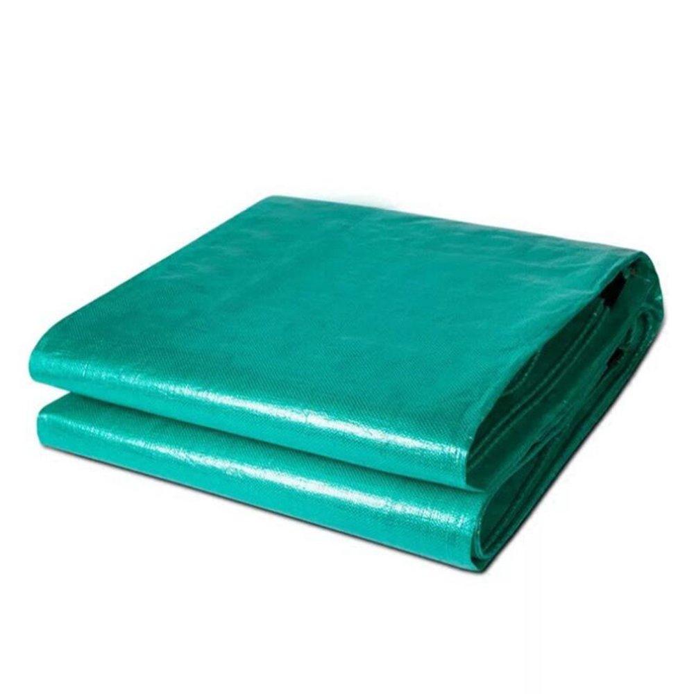 LQQGXL 防水トラックの防水日焼け止めの防水シートの貨物の防塵防風防潮布の絶縁耐摩耗PEプラスチック布 防水シート (色 : Green, サイズ さいず : 6 * 6m) 6*6m Green B07J9V44G9