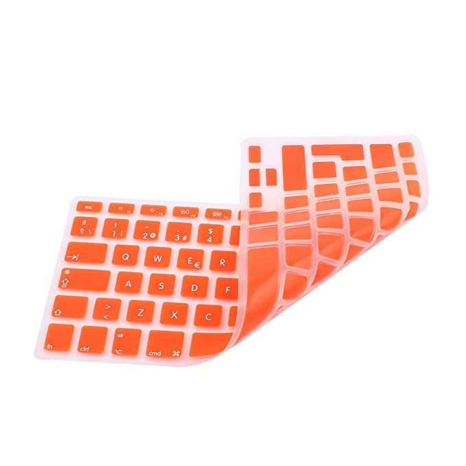 Amazon.com: eDealMax la piel del teclado español Cover Orange UE Para MacBook Air 13 15 17 pulgadas: Computers & Accessories