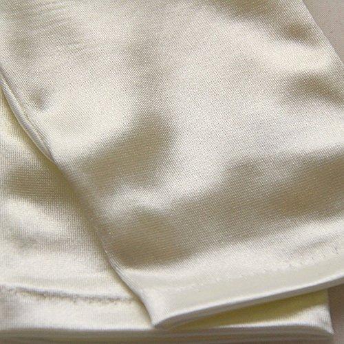 Gants ivoires en satin, taille unique pour femme.
