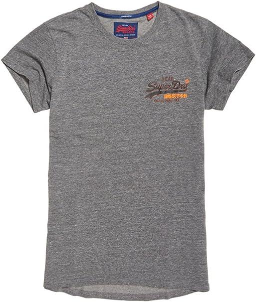 Superdry Orange Label Vntge EMB SS Tee Pull sans Manche, Bleu (Eclipse Navy 98T), Medium Homme