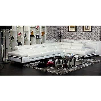 Divani Casa Myst Modern Eco-Leather Sectional Sofa: Amazon.ca: Home ...