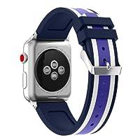 Magiyard Correa para Apple Watch 38mm/42mm, Silicona Adjustable Reemplazo Band Deportiva, Banda para Apple Watch