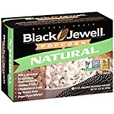 Black Jewell Premium Microwave Popcorn, Natural, 3-Count, 10.5-Ounce Boxes (Pack of 6)