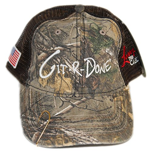 5b955f36ee3 Larry the Cable Guy Official Gear Git-R-Done Tour Hat (Camo-Brown) with  Fish Hook - Buy Online in UAE.