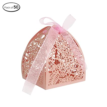 Zhi Jin 30pcs tallada hueca rosas boda Candy cajas flores Chocolate caja regalo Party Cumpleaños Decoración