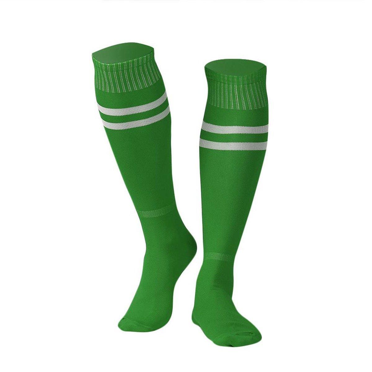 ユニセックス膝上サッカーソックスメンズレディースアウトドアスポーツレギンスストッキング B06X94QR4SA01:Green