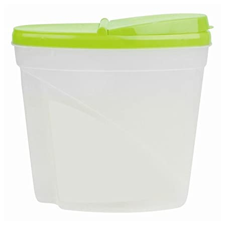 dry food storage containers. 5L Dry Food Storage Container Large Plastic Box Cereal Dispenser Lid Pasta Snack Fresh Seed Containers E