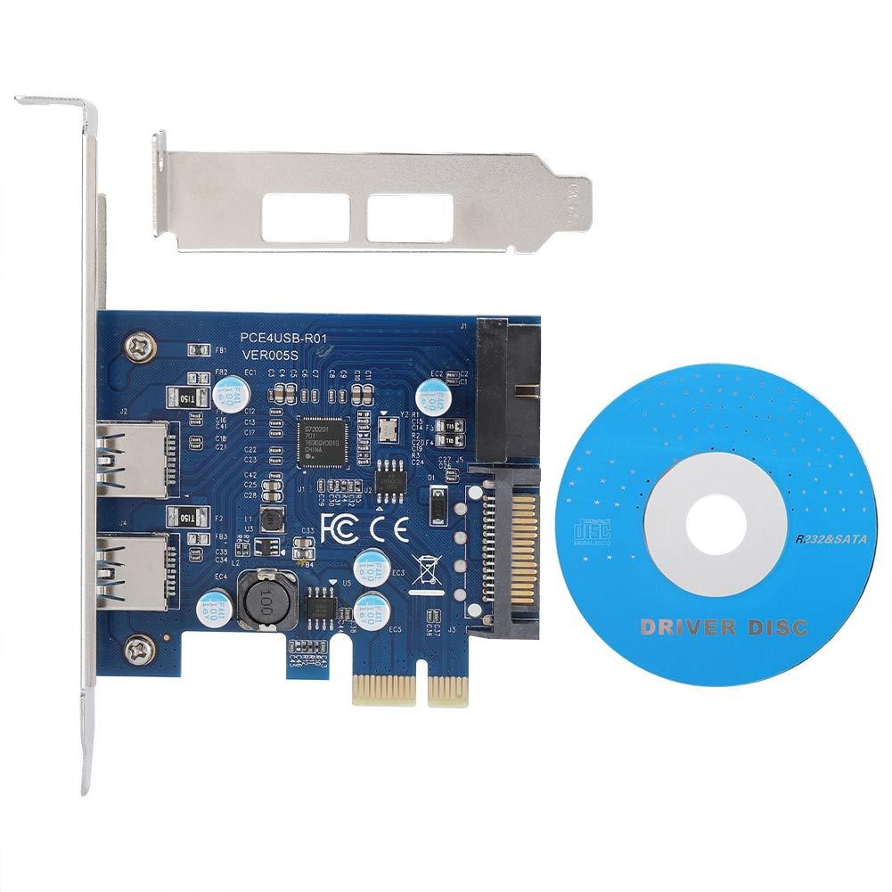 Oumij Expansion Card 4 Ports PCI-E USB3.0 20PIN/19Pin Expansion Card Adapter Card for WINXP/WIN7/WIN8 by Oumij