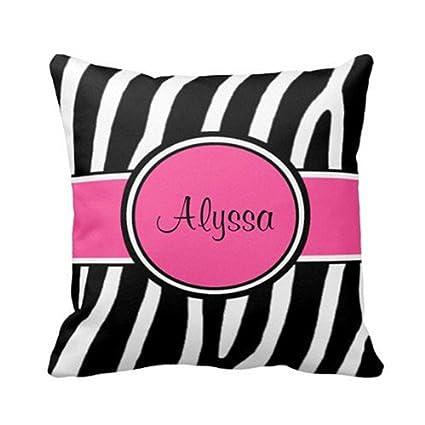 Amazon Pink Zebra Print Personalized Pillow Cover 40 X 40 Inspiration Pink Zebra Print Decorative Pillows