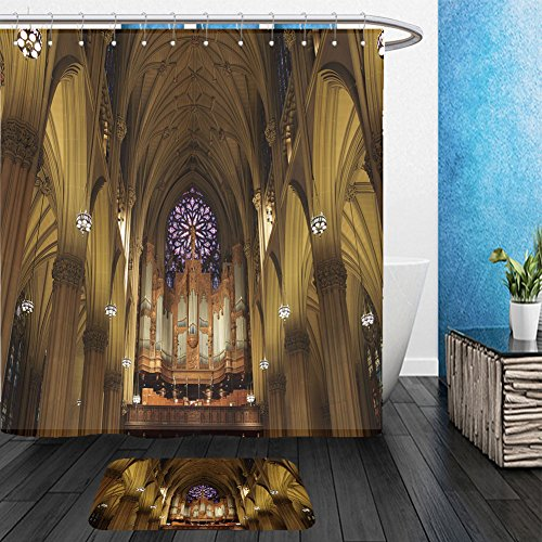 Vanfan Bathroom 2Suits 1 Shower Curtains & 1 Floor Mats the pipe organ in st patrick s cathedral in manhattan nyc 73090624 From Bath - Circle Armens St