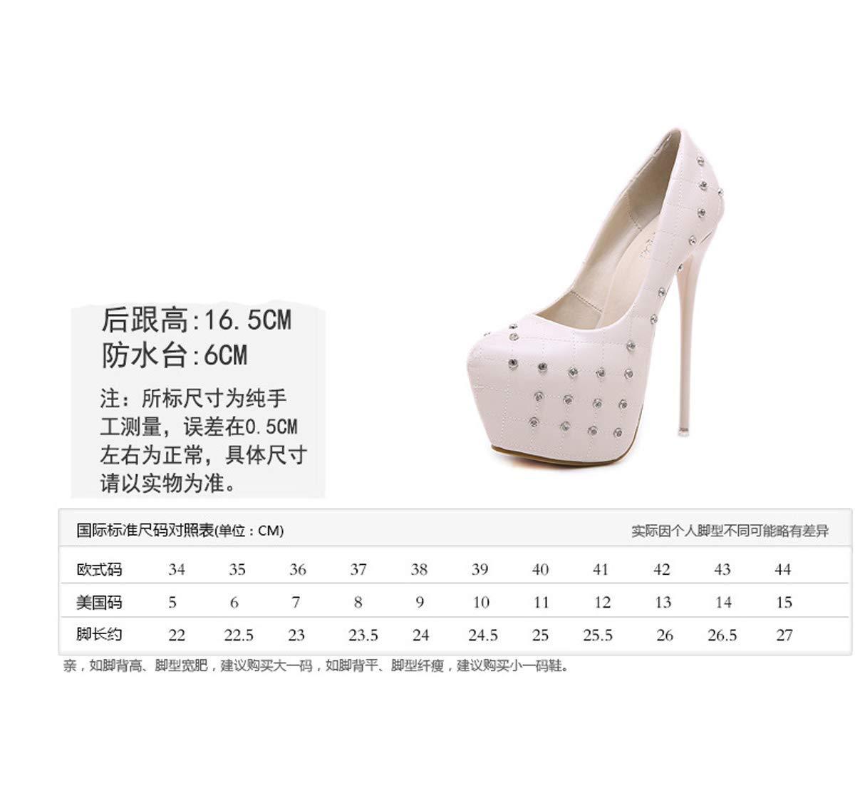 HBDLH Damenschuhe/Wasserdichte Plattform Damenschuhe Herbst Und Winter Flachen Mund Gut Bei Fuß Überschuhe Einzelne Schuhe