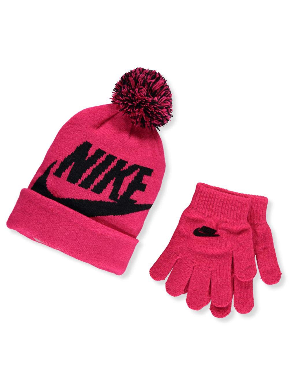 Kids' Nike Swoosh Pom Beanie Hat and Gloves Set