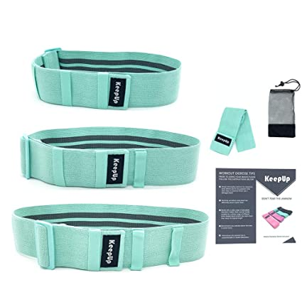 Activate Glute /& Thighs Wide Thick Elastic Bands,Portable for Women Men KeepUp Adjustable Hip Resistance Bands Fabric for Legs and Butt Stretching /& Warm up,Non-Slip Non-Roll Workout Butt