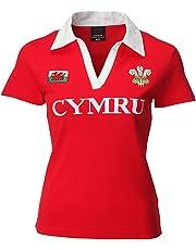 Wales Welsh Short Sleeve Ladies Rugby Shirt uk 08/10
