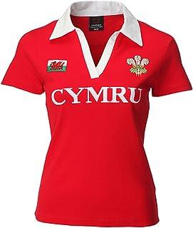 Wales Welsh Damen Rugby Shirt Short Sleeve