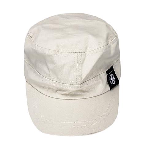 tongshi Moda Unisex tetto piano Cappello Militare cadetto Patrol Cappello  australiano Baseball Field Cap (grigio b5a36a022688