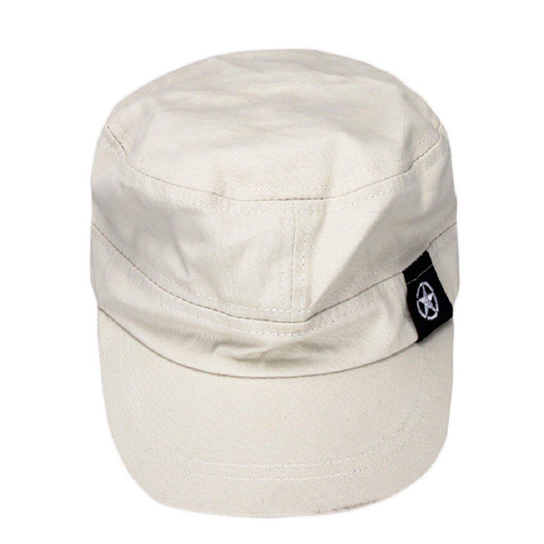 tongshi Moda Unisex tetto piano Cappello Militare cadetto Patrol Cappello  australiano Baseball Field Cap (grigio 81e21c719d55