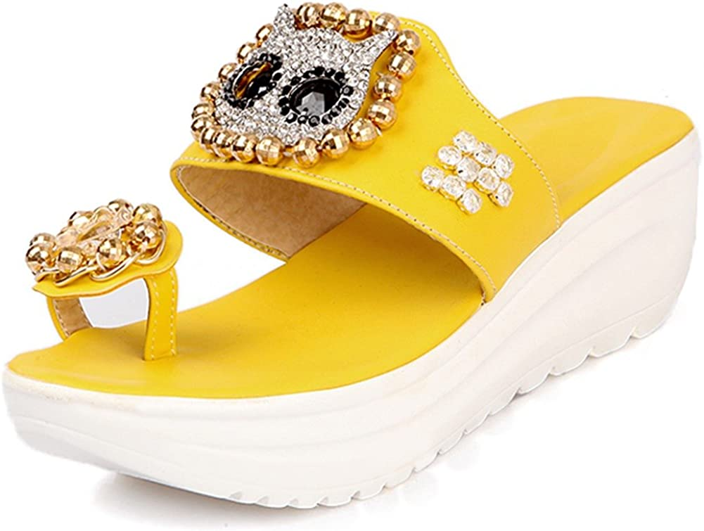 SaraIris Womens Flip Flop Outdoor Silppers Daily Platform Sandals Shoes