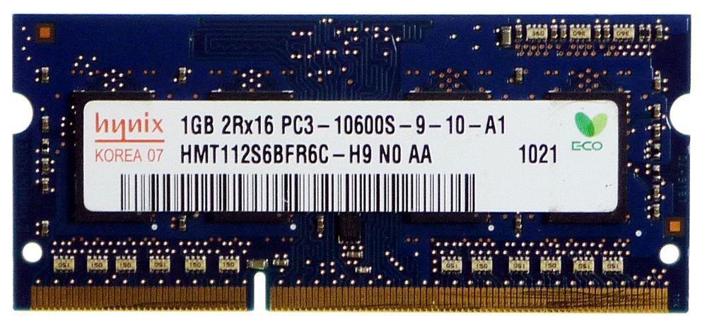 Hynix 1GB DDR3 Memory SO-DIMM 204pin PC3-10600S 1333MHz HMT112S6BFR6C-H9 by Hynix (Image #1)