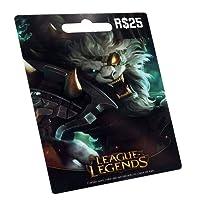 Cartão League of Legends R$ 25 Reais Pré-pago Gift Card