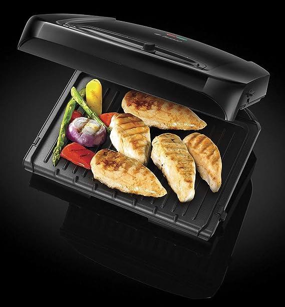 Russell Hobbs 20850-56 Entertaining - Grill con placas extraíbles, reduce hasta un 42% de grasa, parrillas aptas para el lavavajillas
