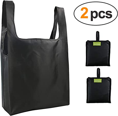 Reusable Eco Foldable Roll Up Shoulder Handbag Shopping Bag Pouch Tote Fold Away