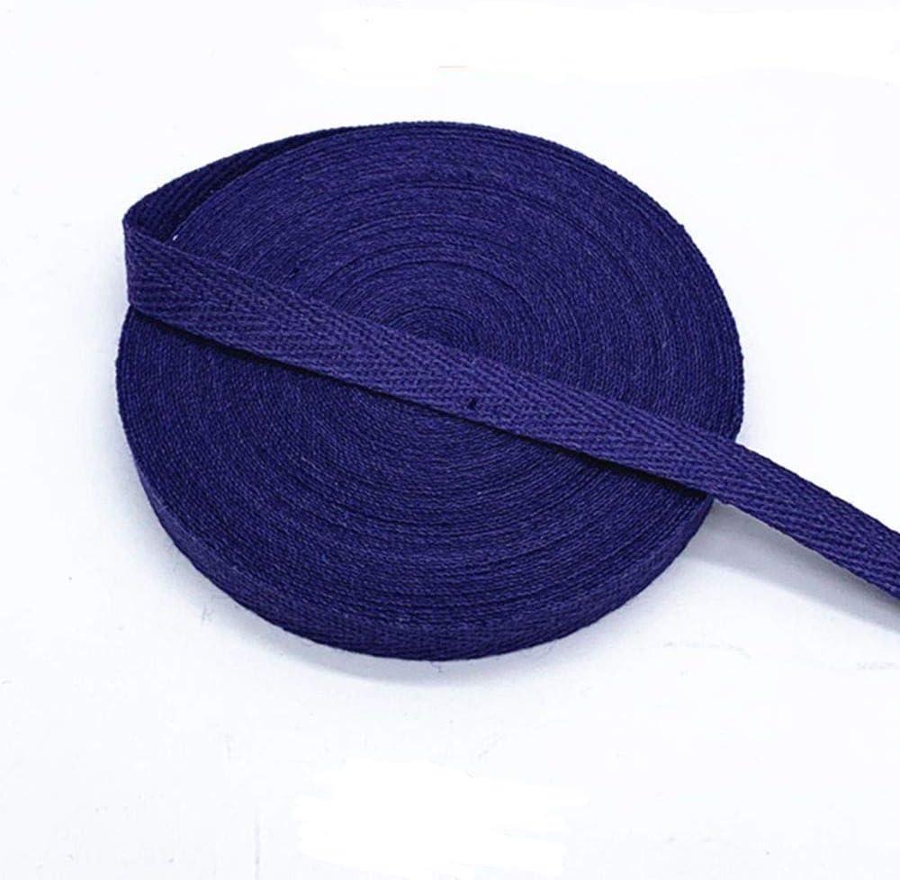 MoonyLI tejido de algod/ón sarga de abeja dise/ño de espinas de pescado cinta de costura Bolsa de algod/ón para cintur/ón 28 a/ños, 28 colores, 10 mm cinta de sujeci/ón