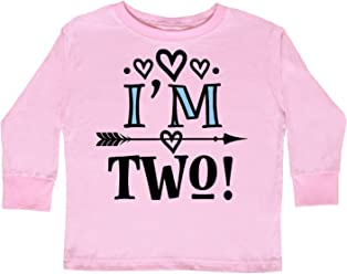 3c99bef07 inktastic - 2nd Birthday 2 Year Old Arrow Toddler Long Sleeve T-Shirt 2df59