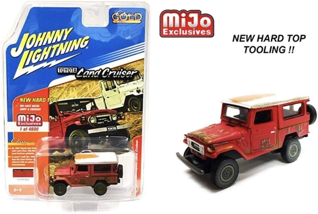 1//64 JOHNNY LIGHTNING 1980 Toyota Land Cruiser in Bright Red