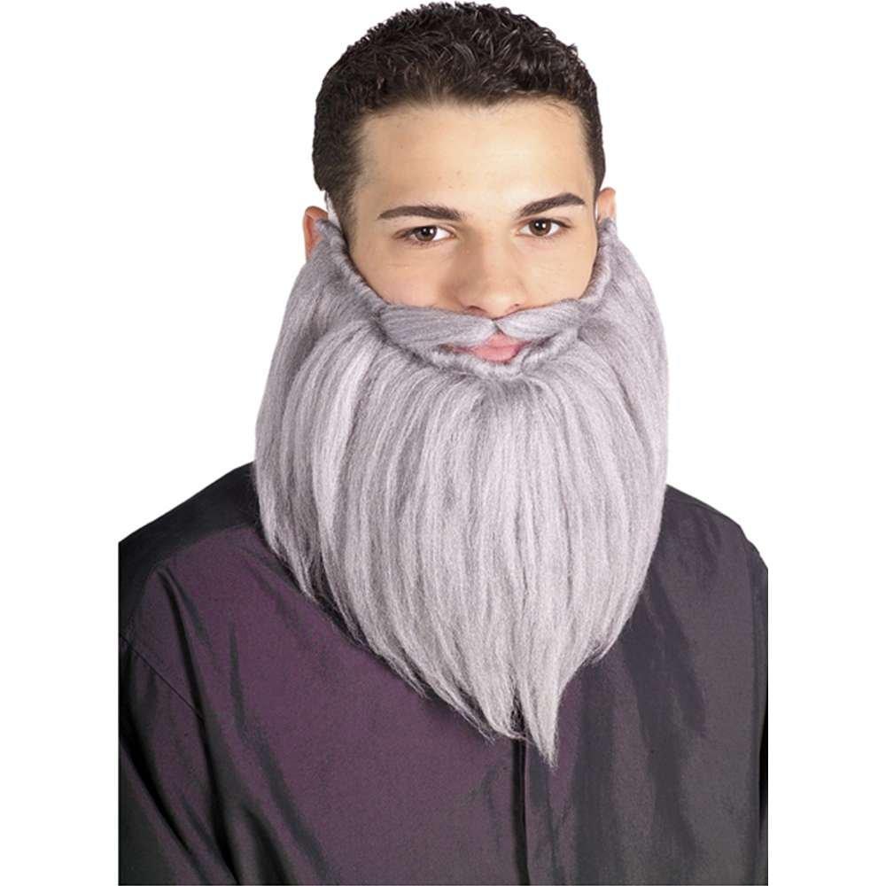 Grey 8in Beard /& Moustache Set Standard