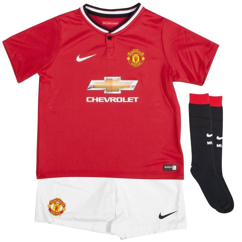 uk availability 6221d 4fa62 2014-15 Man Utd Home Nike Little Boys Mini Kit