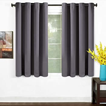 TEKAMON 99% Blackout Curtains 2 Panels Thermal Insulated Solid Grommet  Draperies Set, Room Darkening Panels For Living Room, Bedroom, Nursery,  Home Theaters ...
