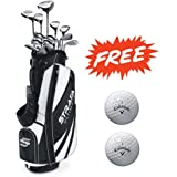 Bundle:Callaway Men's Strata Ultimate Complete Golf Set, 18-Piece,(Left or Right)with Two Balls