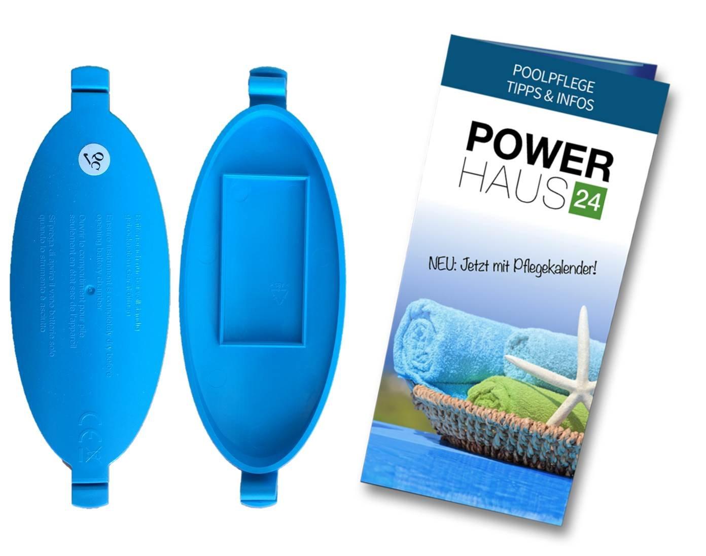 Batteriefachdeckel f/ür PoolScan und Suba II mit POWERHAUS24 Pflegefibel
