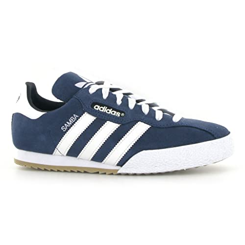 cheap buy cheapest adidas Originals Samba Super Suede Trainer Blue Leather Trainers Shoes  019332