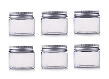 f9c12d4458f8 6 Pcs 200ml / 6.67oz Jars PET Cosmetic Containers Empty Makeup Cases ...