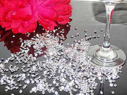 JZK 5000 piezas 6mm blanco claro diamante acrílico confeti mesa boda confeti mesa fiesta dispersión gemas cristales decoración mesa para boda, cumpleaños, ...