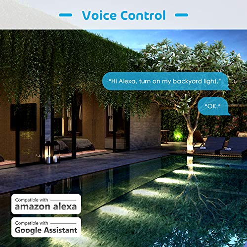 meross Smart WiFi Outdoor and Indoor Plug with 2 Grounded Sockets, Plug-in  Heavy Duty Outlet, Remote Control, Timer, Waterproof, Works with Alexa,