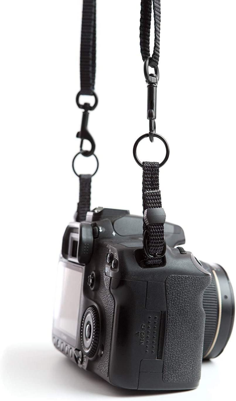 Camera Belt Accessory Black Metal Swivel Snap Hooks 3//8 x 2 Strong and Durable Made of Die Cast Zinc Camera Strap Accessories Durable