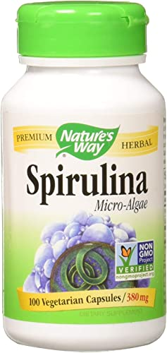 Nature s Way Spirulina Micro-Algae 380 mg 100 Veg Caps