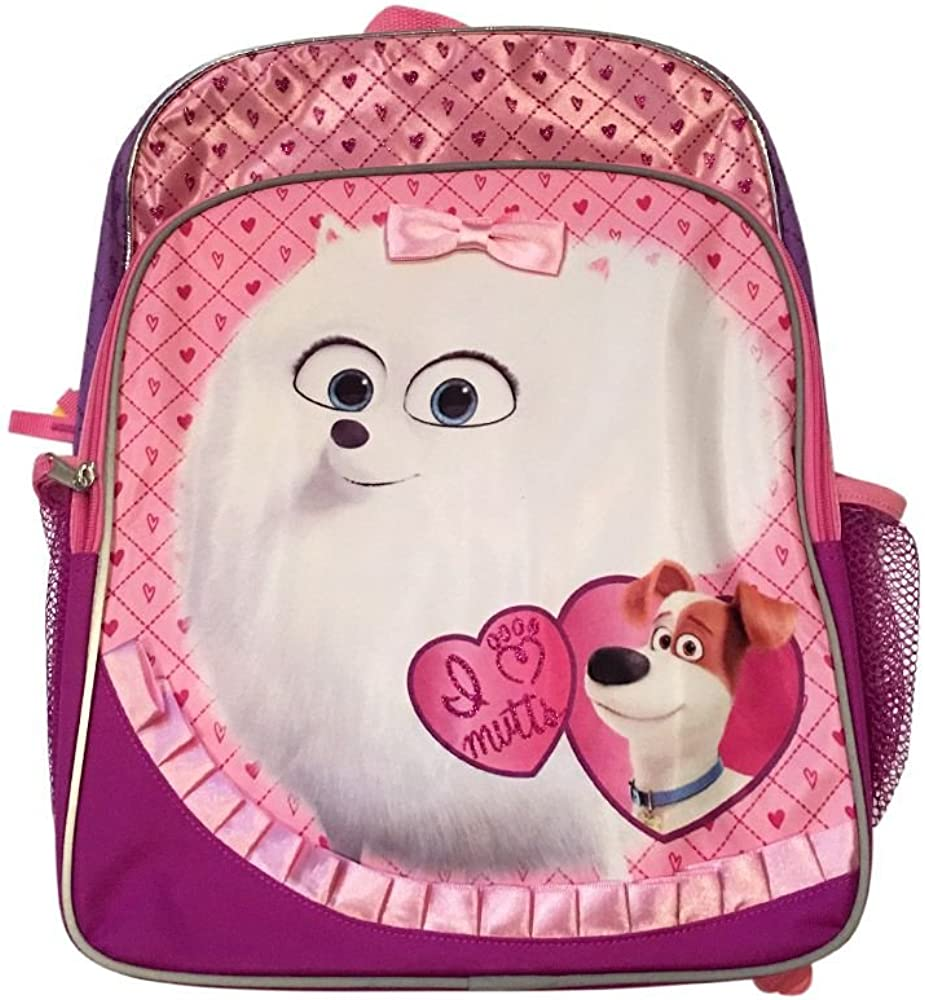 Pink Secret Life of Pets I Love Mutts Backpack