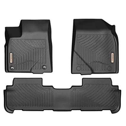 Toyota Floor Mats >> Yitamotor Floor Mats For Highlander Custom Fit Floor Liners For 2014 2019 Toyota Highlander 1st 2nd Row All Weather Protection