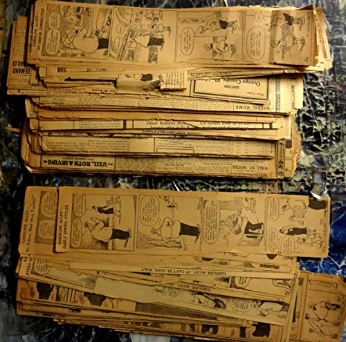 Gasoline Alley Comic Strips from 1925-26 - 278 Vintage Newspaper Cut-Outs (Strip Out)