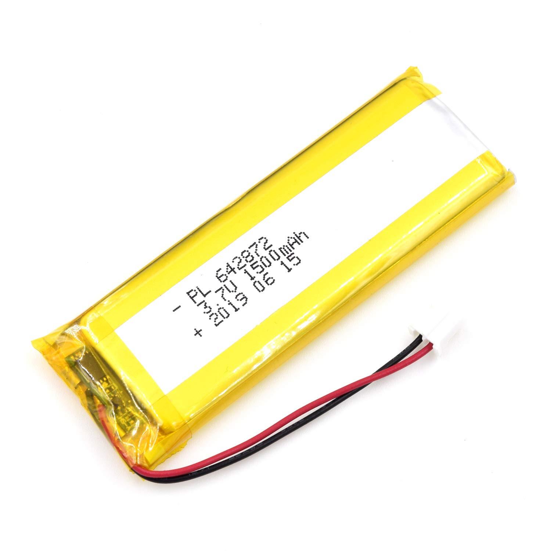 Bateria Lipo 3.7V 1500mAh 642872 Recargable JST Conector