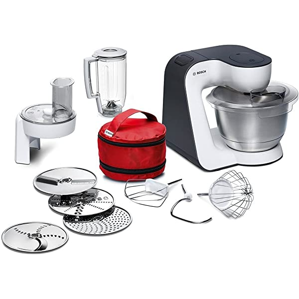 Bosch MUM58L20 CreationLine - Robot de cocina (1000 W, acero ...