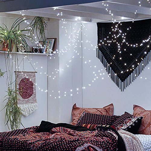 CrazyFire String Lights, LED Fairy String Light 33ft 100 LEDs Waterproof Decorative Starry Lights for Bedroom, Patio, Parties (Copper Wire Lights, Cool White)