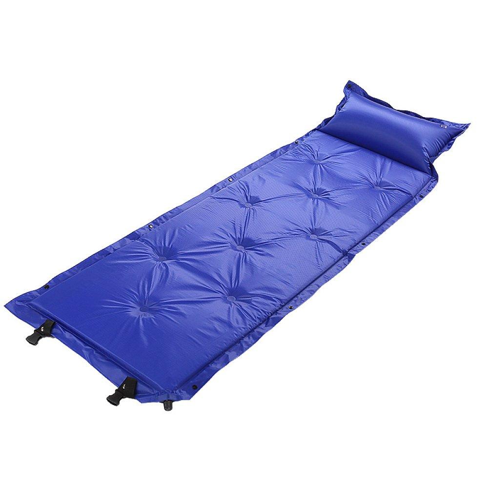 防水自動インフレータブルベッドSelf Inflating Dampproofスリーピングパッドテントエアマットマットレス枕付きアウトドアキャンプ 183 * 57 * 2.5cm ブルー 85214 B07FCNDF8X ブルー 183*57*2.5cm