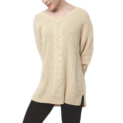 Women/'s Cashmere Sweater Women V-neck Warm Wool Blend Jumper Pullover
